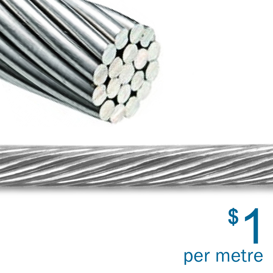 316ss Wire Rope | 3.2mm | 1x19
