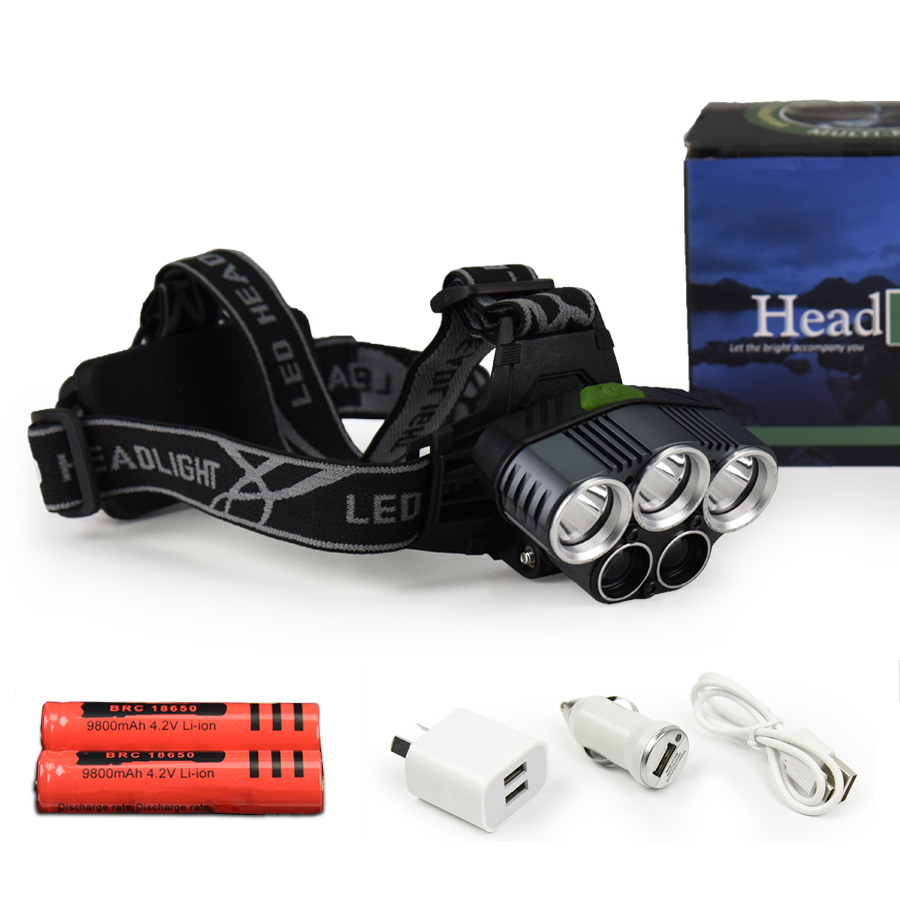 5 Torch Head Lamp | Ultra Bright with Blue Beam
