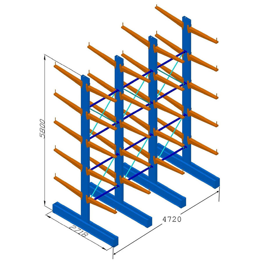 Heavy Duty Cantilever Racking DS 5.8mH - 900 Arms