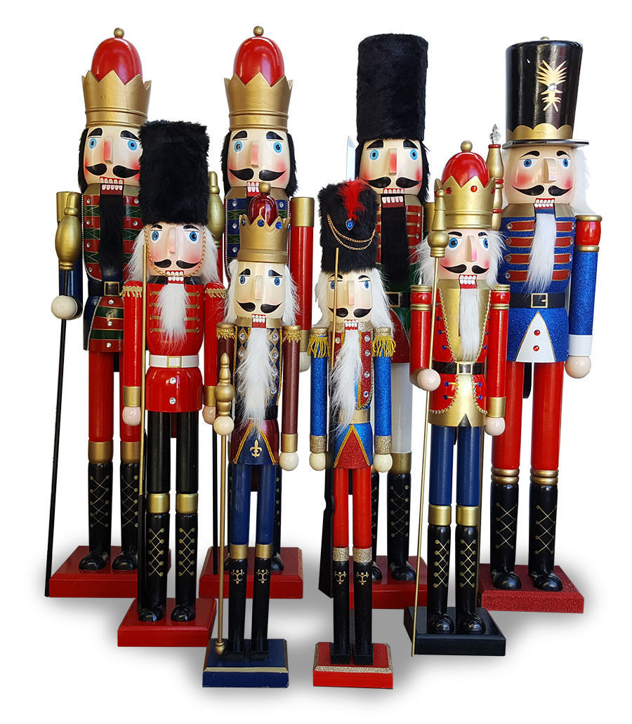 Wooden Christmas Nutcracker X LARGE 1.5m - BLUE KING