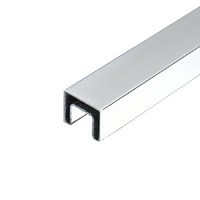 25x21mm Glass Rail | 2.9m Rectangle Slotted Tube