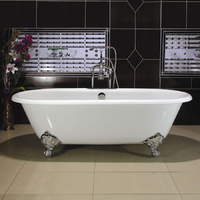 Cast Iron Claw Foot Bath - 1676mm Double Ended - WHITE
