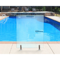 1000mm x 1200mm Glass Pool Fencing Panel