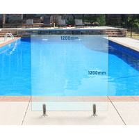 1200mm x 1200mm Glass Pool Fencing Panel