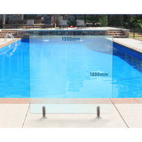 1300mm x 1200mm Glass Pool Fencing Panel