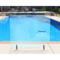 1500mm x 1200mm Glass Pool Fencing Panel