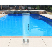 300mm x 1200mm Glass Pool Fencing Panel