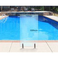 700mm x 1200mm Glass Pool Fencing Panel