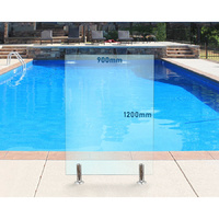 900mm x 1200mm Glass Pool Fencing Panel