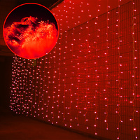 Curtain Lights 6x3m 800 LED (Red)