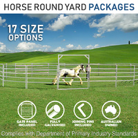 Horse Round Yard PACKAGE - 17 Options -  WITH GATE PANEL
