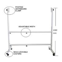 MOBILE WHITEBOARD UNIVERSAL STAND (fits1200mmx900mm up to 1800mmx1200mm Boards)