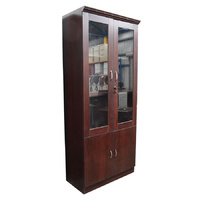 Glass Door Cabinet | 800mm Width | Timber Veneer