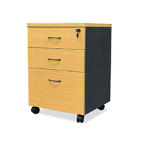 Mobile Drawer Box Unit | Beech & Ironstone