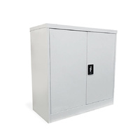 NEW Steel Stationery Cabinet 1/2 DOOR Cupboard STORAGE lockable 900x 900x 400mm