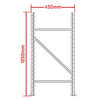 Longspan Racking Frame - 1050mm x 450mm