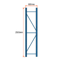 Longspan Racking Frame - 2500mm x 600mm