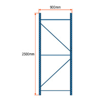 Longspan Racking Frame - 2500mm x 900mm