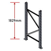 Pallet Racking Frame - 1829mm - Zinc Plated