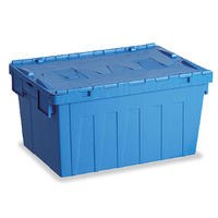 Attached Lid Container - 62 Litre - Stackable Plastic Storage