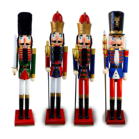 Wooden Christmas Nutcracker X LARGE 1.5m - Hand Made & Painted Decoration Statue