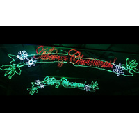 5.5m Merry Christmas LED Sign - RED or GREEN