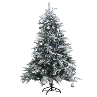 1.8m 6ft Christmas tree. Snowy Alaskan Fir 800 tips Snow capped